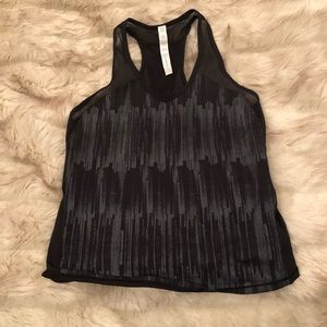 Lululemon tank top black size 4 perfect condition!